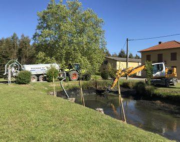 Rénovation de la berge d'un canal